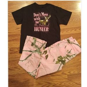 Girls 2 Piece Camo Set